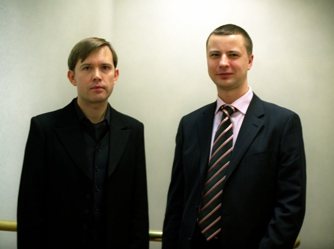 Олег Погудин и Владимир Шкуровский